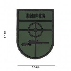 Embleem 3D PVC Sniper uniform arm embleem - met klittenband - 6,4 x 6,3 cm.