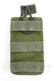 Defensie, Korps Mariniers en US Army groene MOLLE pouch Single Magazin M4 en Diemaco -  13 x 7,5 x 2,5 cm - origineel