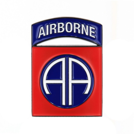 Metalen logo WW2 82nd Airborne Division - in luxe doosje