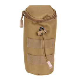 Koppeltas airsoft BB fles - Molle draagsysteem - 20 x 7 x 7 cm - coyote