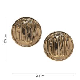 US  GULF COAST MILITARY ACADEMY collar discs metaal PAAR