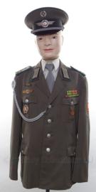 DDR officiers LSK uniform SET jasje, overhemd, stropdas en pet - met originele insignes - maat 50 - origineel