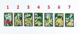 KL Nederlandse leger rangembleem met klittenband NFP camo - manschappen - 5 x 8 cm