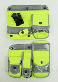 Britse Politie merk Aegis tassen PAAR met klittenband voor het kogelwerende vest - NIEUW in de verpakking - 24 x 27 cm - origineel
