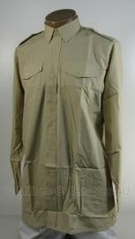 Brits Leger Overhemd khaki - nieuw in verpakking - maat 36 tm. 42 - origineel