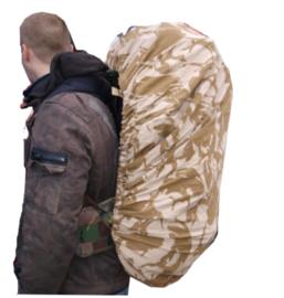 Britse rugzak DESERT DPM camo overtrek LARGE voor 60 tm. 120  liter rugzakken Cover pouch Side Rucksack LARGE - origineel