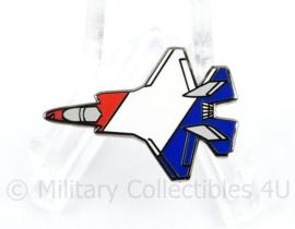 Klu Luchtmacht F35 Speld in de kleuren van de Nederlandse vlag F35 Joint Strike Fighter Lightning 2