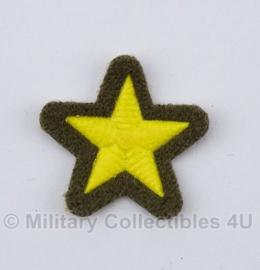 Russische rang ster groen/geel - stof - origineel