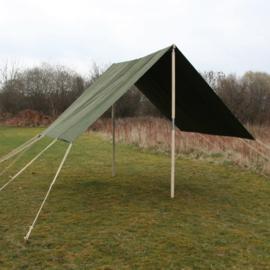 Replica Luifel Flyover Fly Sheet MET houten palen set voor WO2 US Small Wall tent - topkwaliteit