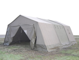 Franse 3 delige Modulaire F1 tent General Purpose Legertent set -  5,6 x 6,3 meter inclusief alle toebehoren