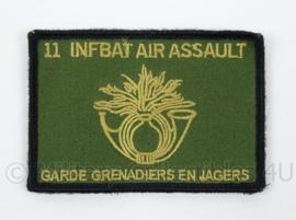 KL Landmacht nieuwste model embleem 11 INFBAT Air Assault Garde Grenadiers en Jagers - met klittenband - afmeting 10 x 6,5 cm - origineel