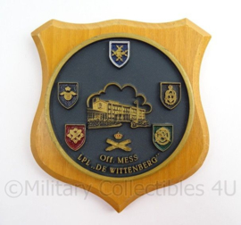 KL Landmacht wandbord Officiers mess De Wittenberg - afmeting 15 x 16 x 2,5 cm - origineel