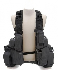 Tactical vest 12 pockets - zwart
