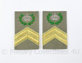 Defensie Stratotex epauletten paar - rang Compagnies Sergeant Majoor - origineel