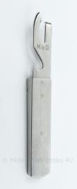 Defensie MVD blikopener bestek deel RVS - 16 x 2,5 cm  origineel