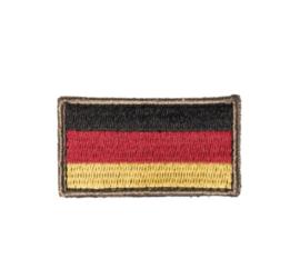 Duitse leger Bundeswehr landsvlag met klittenband voor uniformen - 5,5 x 3 cm
