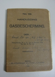 Handboek gasbescherming 1938 - met zeer veel uitbreidingen