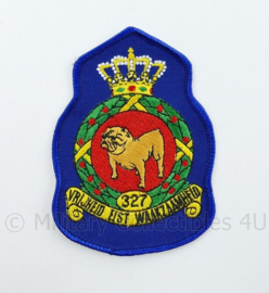 KLU Luchtmacht RNLAF 327 Squadron embleem - vrijheid eist waakzaamheid  - 11 x 8 cm - origineel