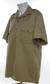 Koninklijke Marine dik khaki overhemd korte mouw - ongedragen - halsmaat 42 - origineel