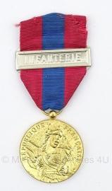 "Belgische ""republique francaise"" infanterie gouden medaille - Origineel"
