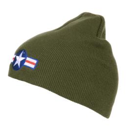 Groene beanie muts WW2