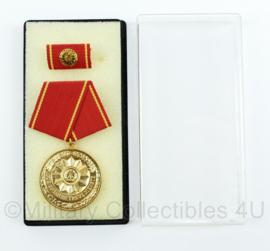 DDR medaille für 20 jahre treue Dienste inclusief doosje - ter decoratie - origineel