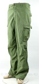 US Army Vietnam oorlog fatique trouser - zeldzame maat long medium - gedateerd 1968 - origineel
