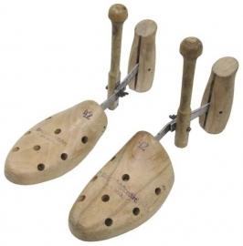 Antiek schoenspanner paar Hout & metaal - maat 39 tm 41 - origineel