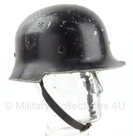 WO2 Duitse Feuerwehr of Polizei helm ALLUMINIUM - maat Medium - origineel