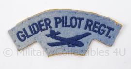 Britse leger Glider Pilot Regiment shoulder title - enkel - afmeting 11 x 5 cm - origineel
