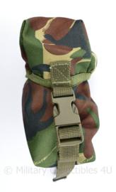 Nederlands leger onbekende koppeltas met klittenband en gespen -  15 x 7 x 7,5 cm - origineel
