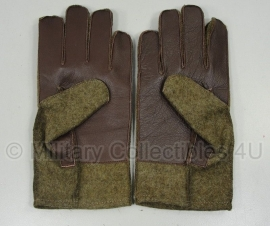 US wool glove met leren handpalm - replica WO2