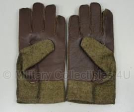 US wool glove met leren handpalm - replica WO2