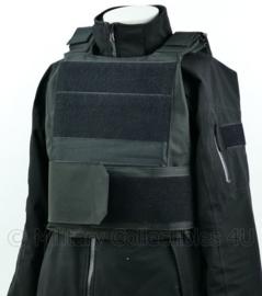 NL Politie DSI Speciale Eenheden ZWART universeel kogelwerende vest hoes zonder ballistische inhoud - XS t/m XXL - met klittenband voor tekststrook rugstrook