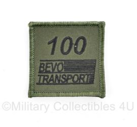 Defensie borst 100 BEVO transport embleem - met klittenband - 5 x 5 cm - origineel