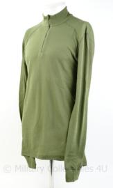 KLU Luchtmacht groen vest with collar , unisex - maat L - nieuw in verpakking - origineel