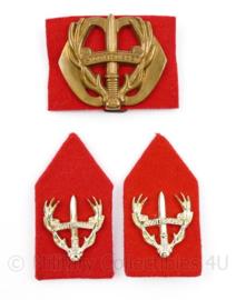 Defensie baret en kraag insigne set Stoottroepen - 3 delige set - origineel