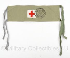 KL Armband geneeskundige dienst met rode kruis erop - origineel