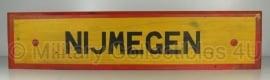 """Houten bord """"Nijmegen""""  - luxe model - 89x20x2 cm."""
