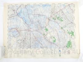 Wo2 Britse War Office Stafkaart van Meppel uit 1945 - Schaal 1:50000 -  57,5 x 76,5 cm - origineel