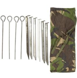 Defensie haringen in woodland tasje voor schakelbare woodland tent - origineel