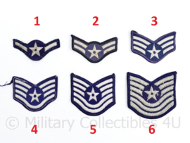 USAF Air Force rang emblemen paar - origineel