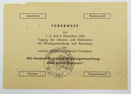 WO2 Duitse postkarte 1946 - met stempel fur die opfer des faschismus - afmeting 15 x 10 cm - origineel