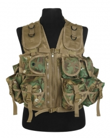 Tactical vest met 9 tassen - Vegetato Woodland