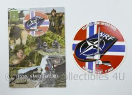 NRF Exercise Iron Sword 2005 Norway Duits Nederlandse Corps instructieboekje met sticker - origineel