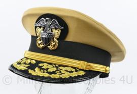 US Navy USN General visor cap replica Summer Khaki - 57 of 60  cm.