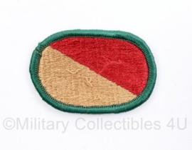 US Army naoorlogse oval wing voor op de borst  - bruin/rood - origineel