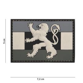 Embleem 3D PVC met klittenband - Benelux Grey - 7,2 x 5 cm.