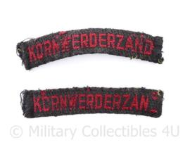 MVO Straatnaam PAAR Kornwerderzand - 9,5 x 2 cm - origineel
