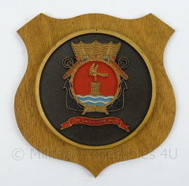KM Marine wandbord Marine Vliegkamp Valkenburg - afmeting 16 x 16 x 0,5 cm - origineel